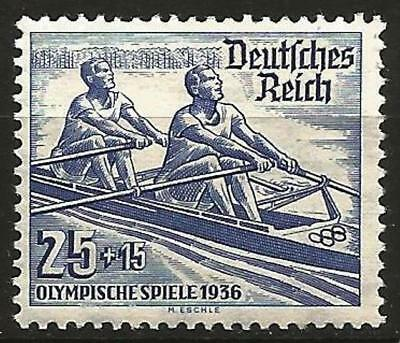 Germany (Third Reich) 1936 MH - Berlin Summer Olympics 25pf Rowing Mi 615 SG 612