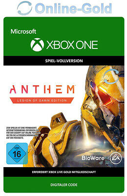Anthem Legion of Dawn Edition - Xbox One - Spiel Key Digital Code RPG - DE/EU