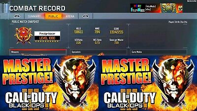 BO3 Prestige Master Level 1000 & 1000 Zombies PS4 - Call of Duty Black Ops 3