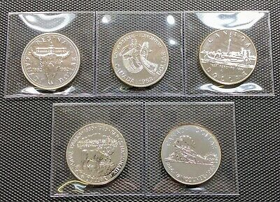 Canada Silver 1982 1983 1984 1985 1986 Lot of 5 Different Specimen Dollar Coins