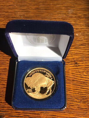 2015 24K Gold Plated $50 AMERICAN GOLD BUFFALO Indian Head TRIBUTE Coin *NEW*