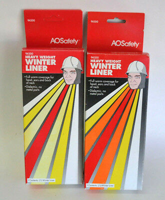 Cabot AOSafety Heavy Weight Winter Liner for Hard Hat Lot of 2  Vintage 94500