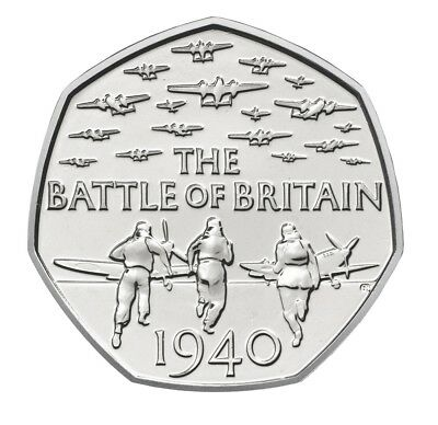 2015 Battle of Britain 50p Coin, Circulated