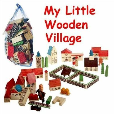 Creative Toys : Childrens Wooden Village Playset in a Bag [Toy] New
