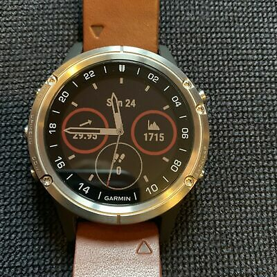 106ea92b258 GARMIN D2 DELTA Aviation Pilot Watch w  Brown Leather Band 010-01988 ...