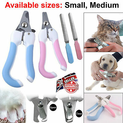 Pet Dog Cat Painless Long Nails Paw Claw Clippers Shaper Filer Scissors Animals