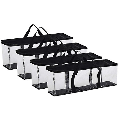 Fasmov Set of 4 DVD Storage Bags Hold up to 160 DVDs 40 Each Bag