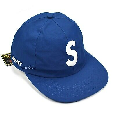 NWT Supreme NY Gore-Tex Blue S-Logo 6 Panel Hat Cap Waterproof SS19 DS AUTHENTIC