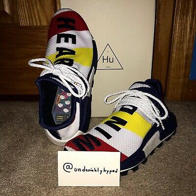 a6588e064d72f Adidas Pharrell Williams NMD HU BBC Human Race Heart Mind Size 9