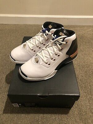 dad0c30f71a New Nike Air Jordan 17 XVII + Retro Size 8 White Black Copper Retro 832816-