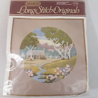 Semco Long Stitch Haven by the Stream Kit 3301 0002 Embroidery Needlecraft Craft