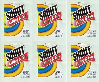 Shout Wipe - Go Instant Stain Remover Wipes 6 ea