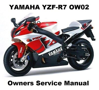 YAMAHA YZF R7 750 OW-02 Owners Workshop Service Repair Manual PDF on CD-R