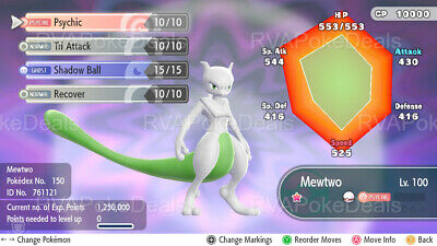 Pokemon Let's Go / Shiny Mewtwo (Timid) / 6IV Max AVs [Battle Ready]