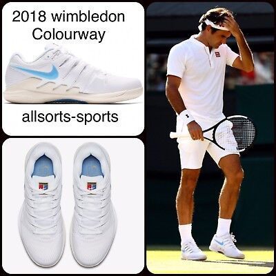 Nike Air Zoom Vapor X 10 Hc Federer 2018 Wimbledon Colourway Aa8030-100