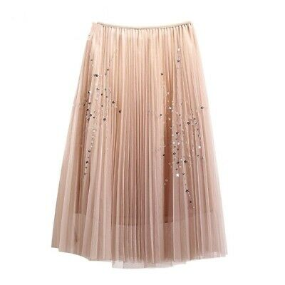 75aa5af5c8 Ladies Soft Tulle Skirt Lovely Mini Stars Design Sequins Long Elastic Waist  Wear
