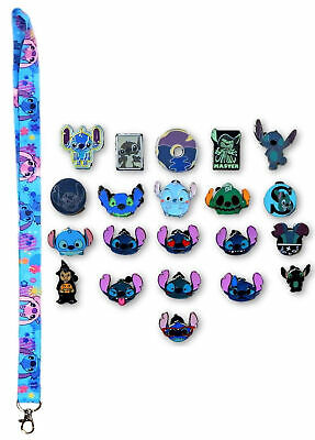Stitch Lanyard with 5 Lilo & Stitch Themed Disney Trading Pins Starter Set ~ NEW