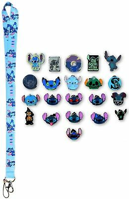 Stitch Themed Lanyard Starter Set with 5 Lilo & Stitch Disney Trading Pins ~ NEW