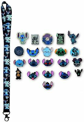 Stitch Themed Lanyard Starter Set with 5 Lilo & Stitch Disney Trading Pins - NEW