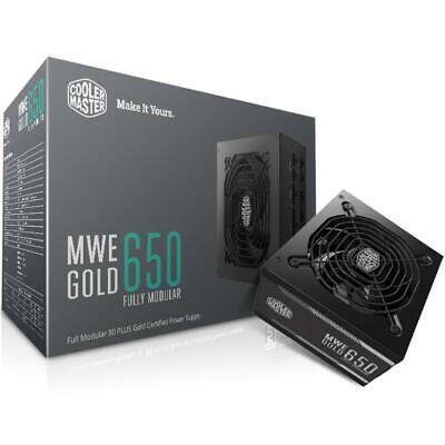 Cooler Master MWE Gold 650W 80 Plus Gold ATX Power Supply Unit PSU Fully Modular
