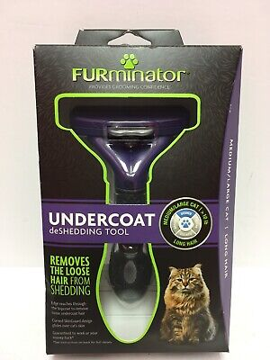 FURminator Undercoat DeShedding Tool For Medium to Large Cats Long Hair