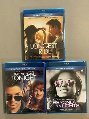Blu-ray lot New Free Ship Longest Ride Take Me Home Tonight Beyond the Lights