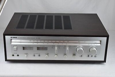 Vintage Silver Yamaha CR-640 Natural Sound AM/FM Receiver Tested New Bulbs