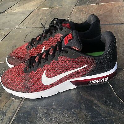 eebc45a4dd NIKE NEW MEN'S Air Max Sequent 2 Running Shoe Black/Red (852461 006 ...