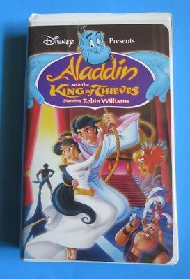 Aladdin And The King Of Thieves ~ Vhs, 1996 ~ Disney ~ Robin Williams ~ 1+ Ship