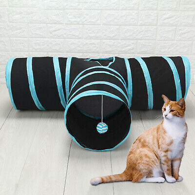 3 Way Tunnels Pet Cat Toys Collapsible Tunnel Toys Cat Rabbit Animal Pop Up Tube