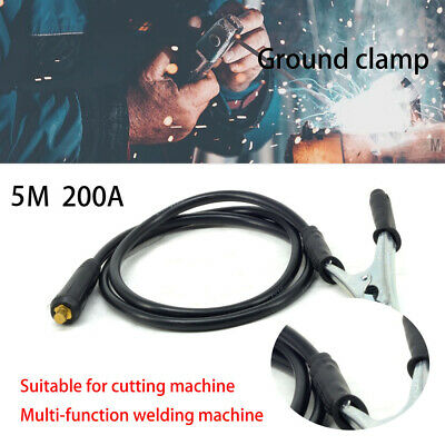 5M Ground Clamp Cable Welding Ground Chuck 300A ARC TIG Welding Inverter Machine