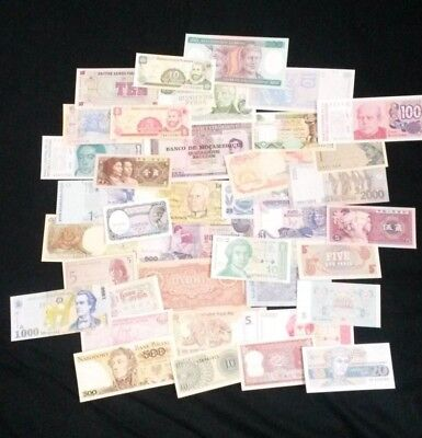 World Banknotes - Bulk Lot of 40 World Banknote Assortment of Notes  Set # 20