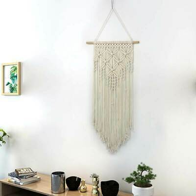 Cotton Yarn Bohemian Macrame Woven Wall Tapestry Hanging Home Room Decor Gift
