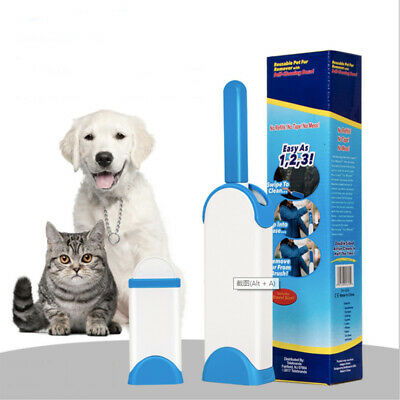 Pet Fur Lint Remover Hair Cleaning Comb with Clothes Brush Self-Cleaning Base
