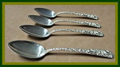 "Kirk & Sons ""Repoussé"" Sterling Silver Demitasse Spoons - Gorgeous"