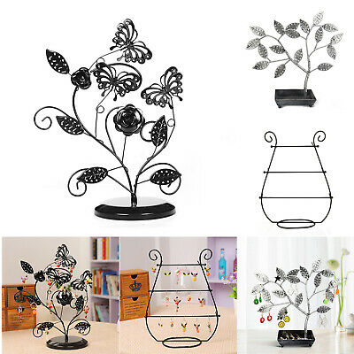 Butterfly Jewelry Display Stand Earrings Necklace Storage Rack Pendant Holders