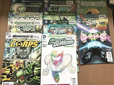 Bundle of 10 DC Comics Green Lantern Corps Brightest Day New Guardians Etc