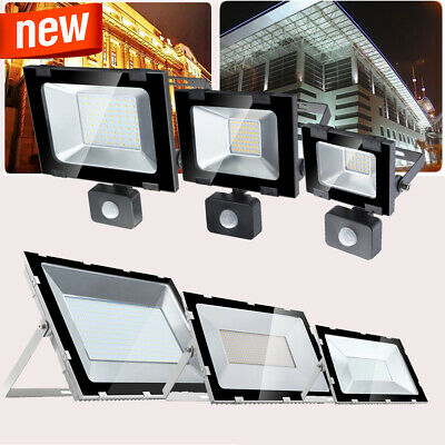 LED Floodlights PIR Sensor Motion 10W 20W 30W 50W 100W 200W 300W 500W Security