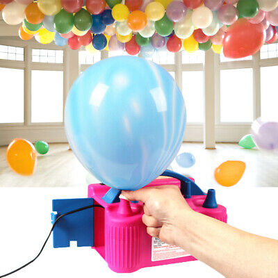 Electric Balloon Inflator Pump Portable High Power Two Nozzle Air Blower NEW