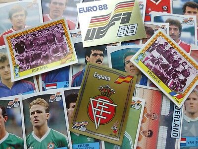 Panini Euro 88 Stickers (Badges/Teams/Players)