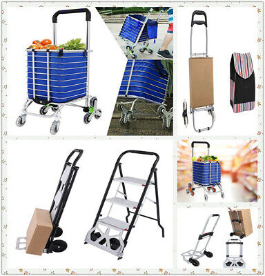 2 in 1 Aluminum Hand Truck 220LBS Convertible Foldable 2/8 Wheel Dolly Cart