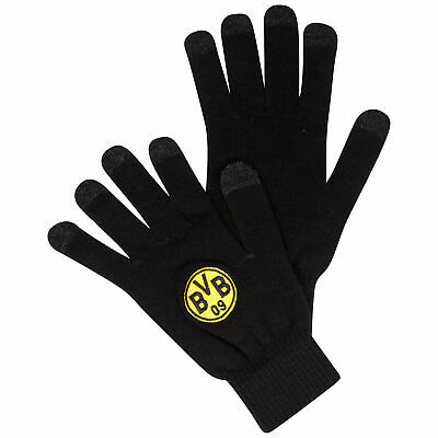 BVB Borussia Dortmund Smartphone Gloves Football Sports Black/Yellow Unisex Clothes, Shoes & Accessories