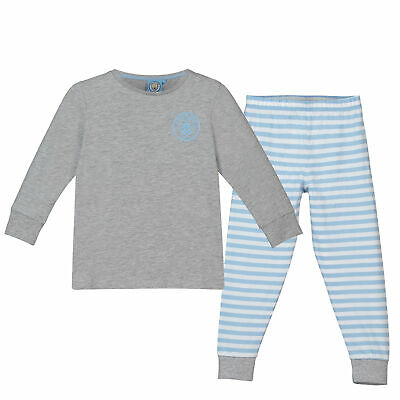 Manchester City Sweat And Jogger Lounge Set PJ Nightwear Grey Marl/Sky Girls