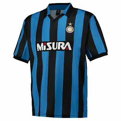 Inter Milan 1990 Retro Football Shirt Top Mens