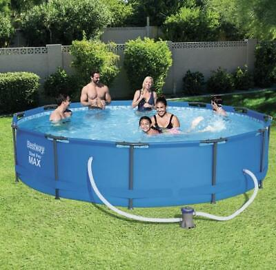 """Bestway 12ft x 30"""" Steel Pro Max Frame Pool Set with Filter Pump"""