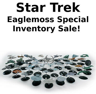Star Trek Eaglemoss Ship SPECIAL INVENTORY SALE!  Your Choice of 75+ On Sale