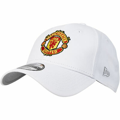 Manchester United New Era Basic 9FORTY Adjustable Cap Hat White Adult Football
