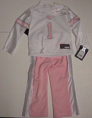 NEW Infant Girls NIKE OU Oklahoma Sooners 2 piece NCAA Pink Jersey Pants Set