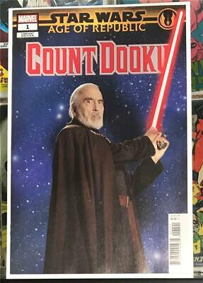 Star Wars Age of Republic Count Dooku #1 Movie Variant 2019 UR 1st Print