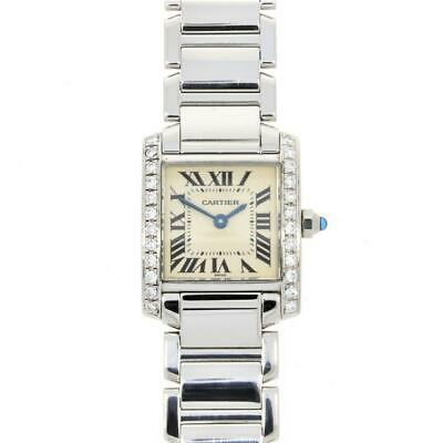 Pre Owned Cartier Tank Francaise Diamond Set Ladies Watch 2300 RW0306